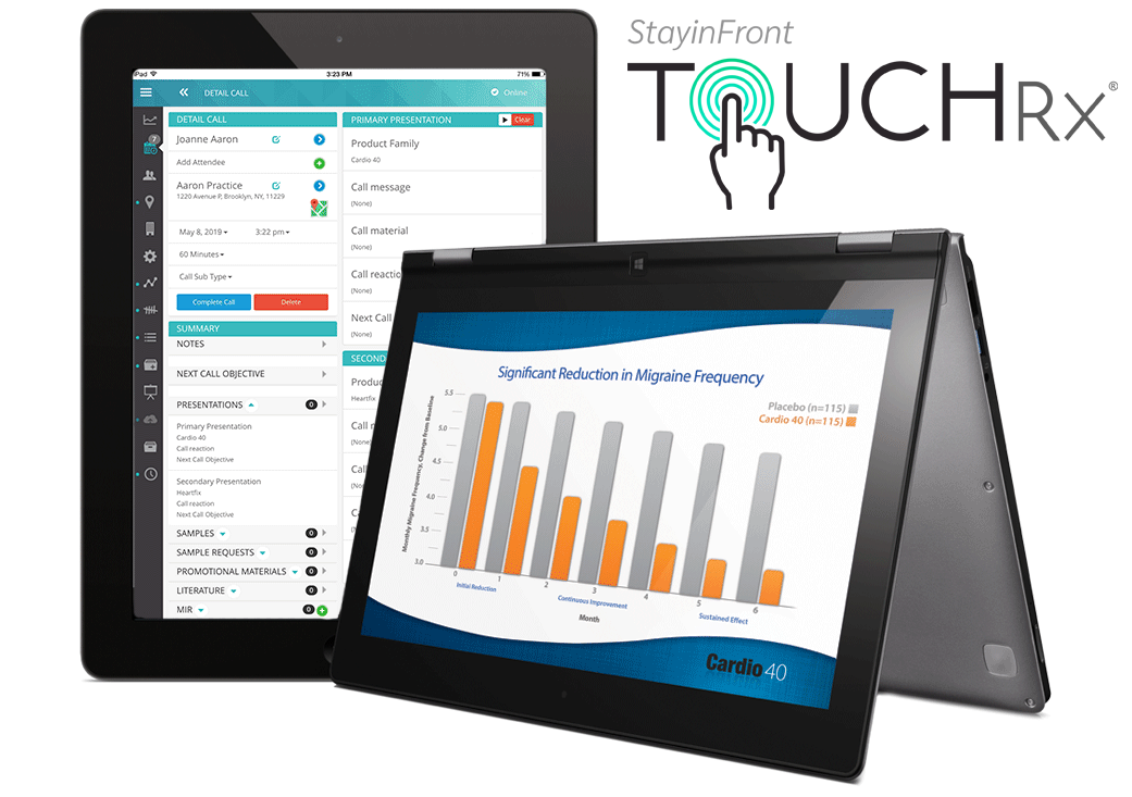 StayinFront Life Sciences CRM is a regulatory compliant cloud crm solution that is optimized for iOS and Window 8 tablets